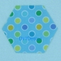 "Mobile Preview: Sechseck 1.5"" Dena Fishbein Happi-Happi Dots Blue"