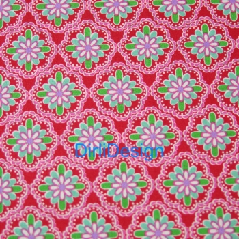 "Sechseck 1.5"" Dena Fishbein Love and Joy-Lace-Red"