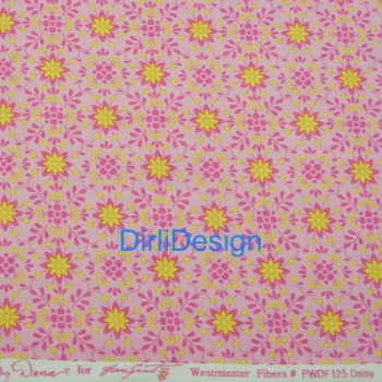 "Sechseck 1.5"" Dena Fishbein Pretty Little Things-Daisy-Pink"