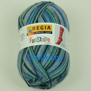 Regia 4-fädig 100g Funstripe Air Color
