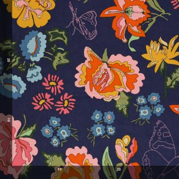 Cotton-Nordic Garden Dream-Stauder-Blue-A&C