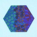 "Sechseck 1.5"" Brandon Mably -Pebble Mosaic-Cobalt"